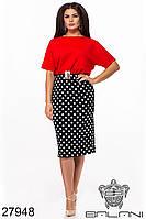 Элегантное батальное платье - 27948 с 48 по 62  размер (бн)