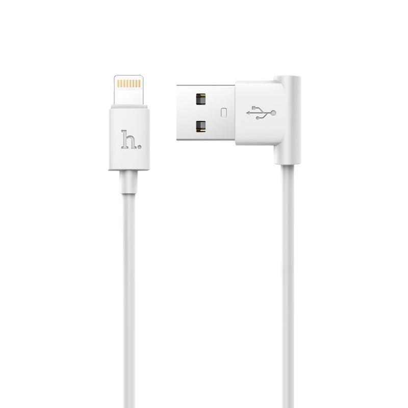 USB Cable Hoco UPL11 iPhone 6 (L Shape) White 1.2m