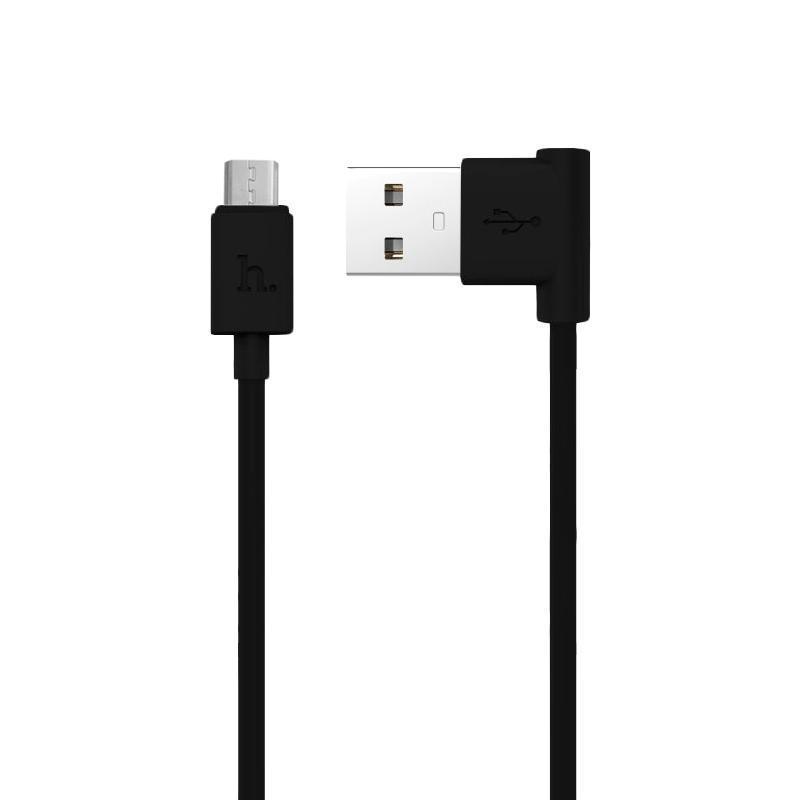 USB кабель Hoco UPM10 MicroUSB (L Shape) Black 1.2m