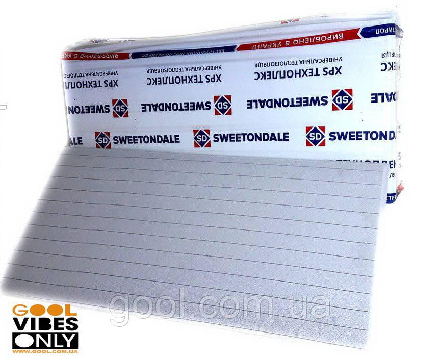 Sweetondale Carbon Eco Fas 50мм экструдированный пенополистирол ЭППС 1180х580х50 мм в упаковке 8 листов