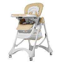 Стульчик для кормления бежевый CARRELLO Caramel CRL-9501/3 Desert Beige деткам от 6 до 36 месяцев