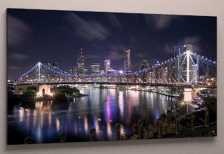 Картина модульная ночной город холст 60х40