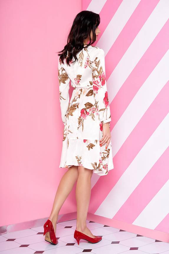 Шелковое платье миди с цветочным принтом, фото 2