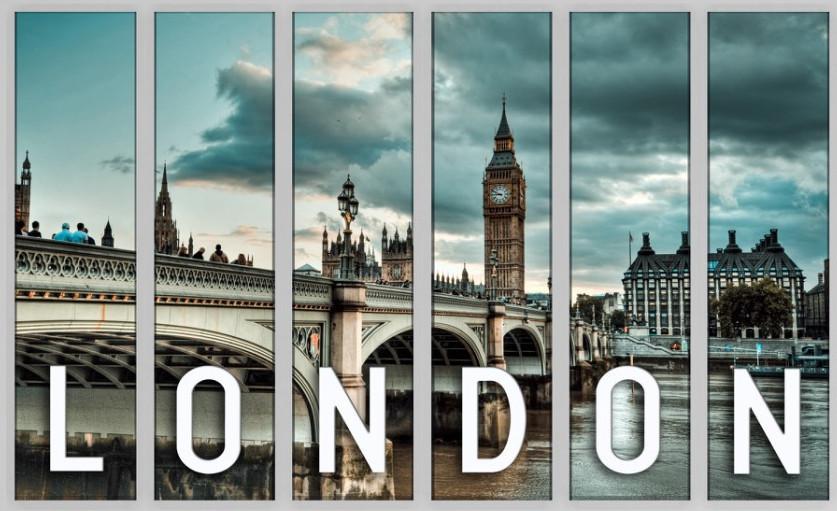 Картина модульная город Лондон 126х85