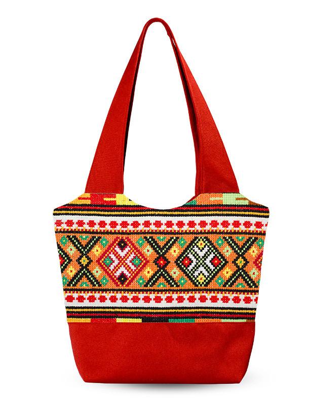 Дамская сумка Разноцветные узоры