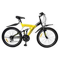 Велосипед подростковый 26 дюймов Профи Циклоп двухподвес двухколесный Profi Cyclops M2615MIX