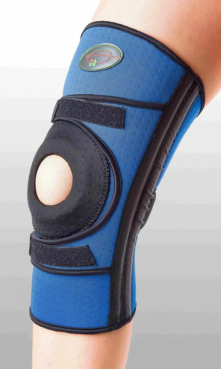 Бандаж для средней фиксации колена с 4-мя спиральными ребрами жесткости К-1П, S
