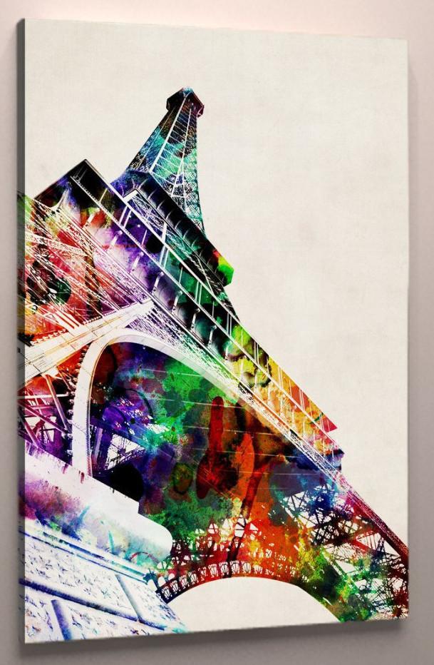 Фотокартина эйфелева башня холст 60х40