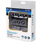 Розгалужувач прикурювача перехідник OLESSON 1523 1523 2-USB (3.1 A): 1A+A 2.1 + 3 авторозетки 12V, фото 2