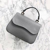 Жіноча шкіряна сумка сіра 29*21*9 см