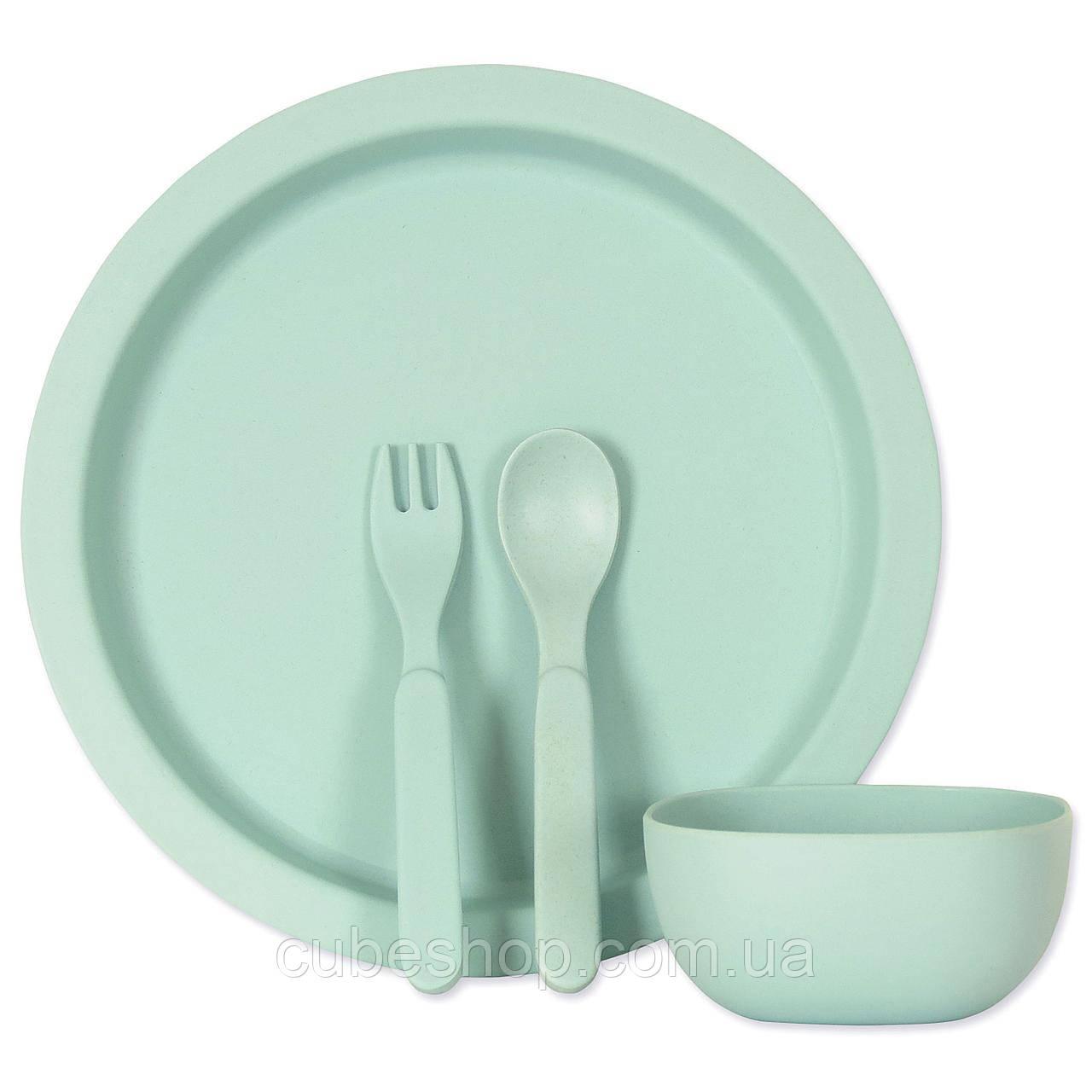Набор детской посуды из бамбукового волокна Simple Blue