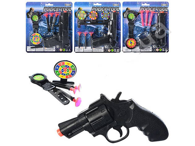 Набор полицейского, пистолет 13см, присоски 3шт, фото 2