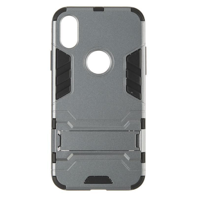 Бронированный чехол с подставкой HONOR Hard Defence для  iPhone X Space Gray