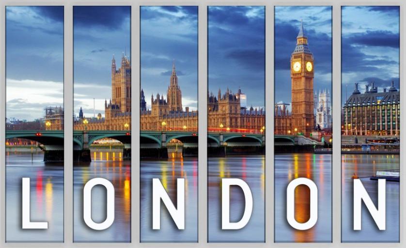 Фотокартина модульная город Лондон 126х85