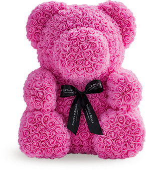 Мишка Teddy из 3D роз 35см в подарочной упаковке