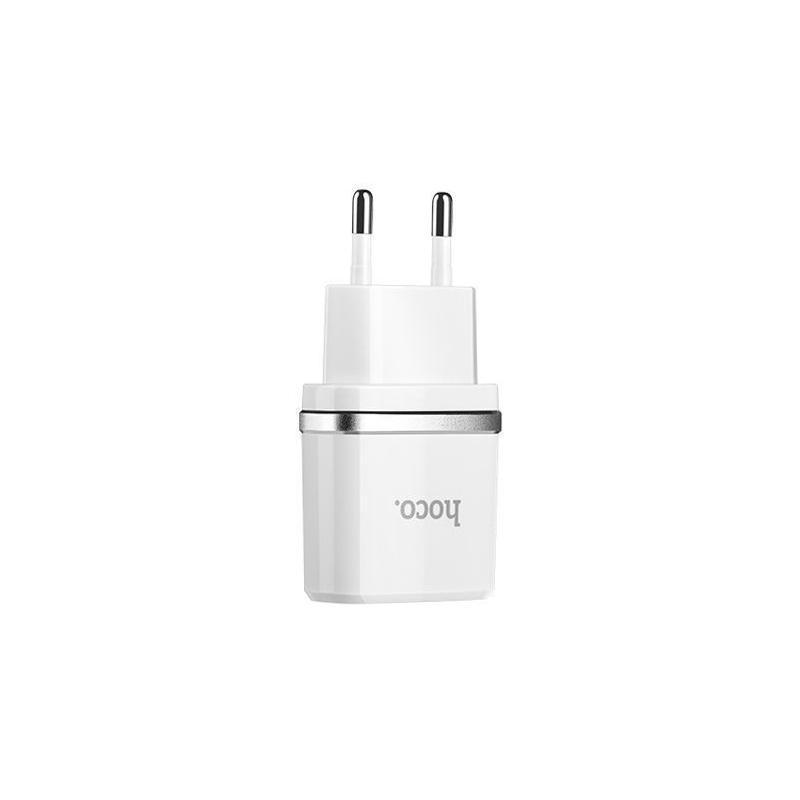 СЗУ 1USB Hoco C11 White + USB Cable iPhone 6 (1A)