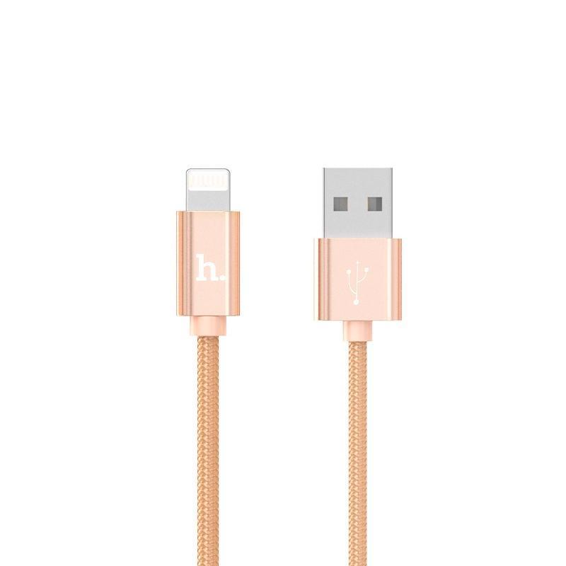 USB кабель Hoco X2 Knitted iPhone 6 Gold 1m