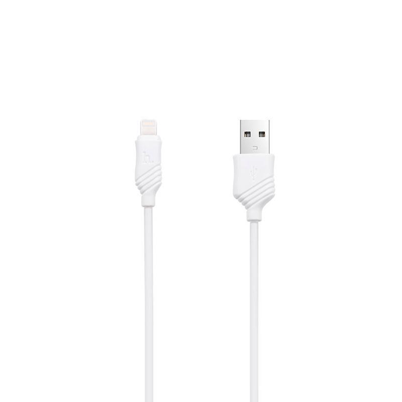 USB кабель Hoco X6 Khaki iPhone 6 White 1m