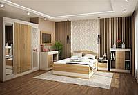 Спальня  серия  ЛИОН (шкаф+кровать+комод+трюмо, с зеркалом + тумба прикроватная)
