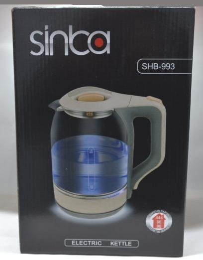 Стеклянный электрический чайник Sinbo SHB-993 1850 Вт стильный и практичный чайник