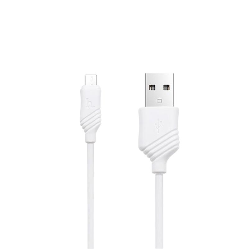 USB кабель Hoco X6 Khaki MicroUSB White 1m