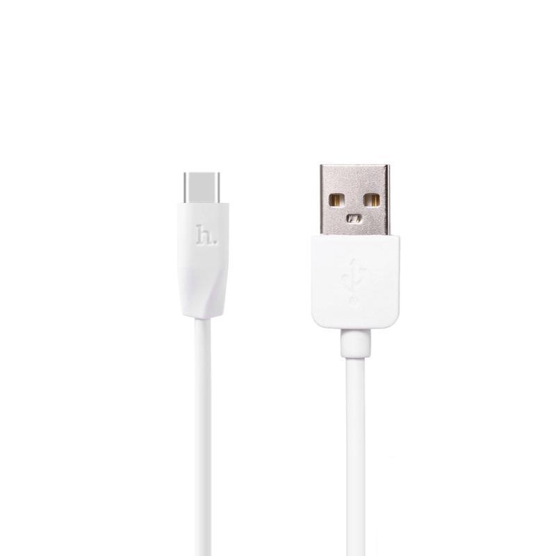USB кабель Hoco X1 Rapid Type-C White 1m