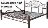 Нова металева ліжко Анжеліка на дерев'яних ногах, фото 3