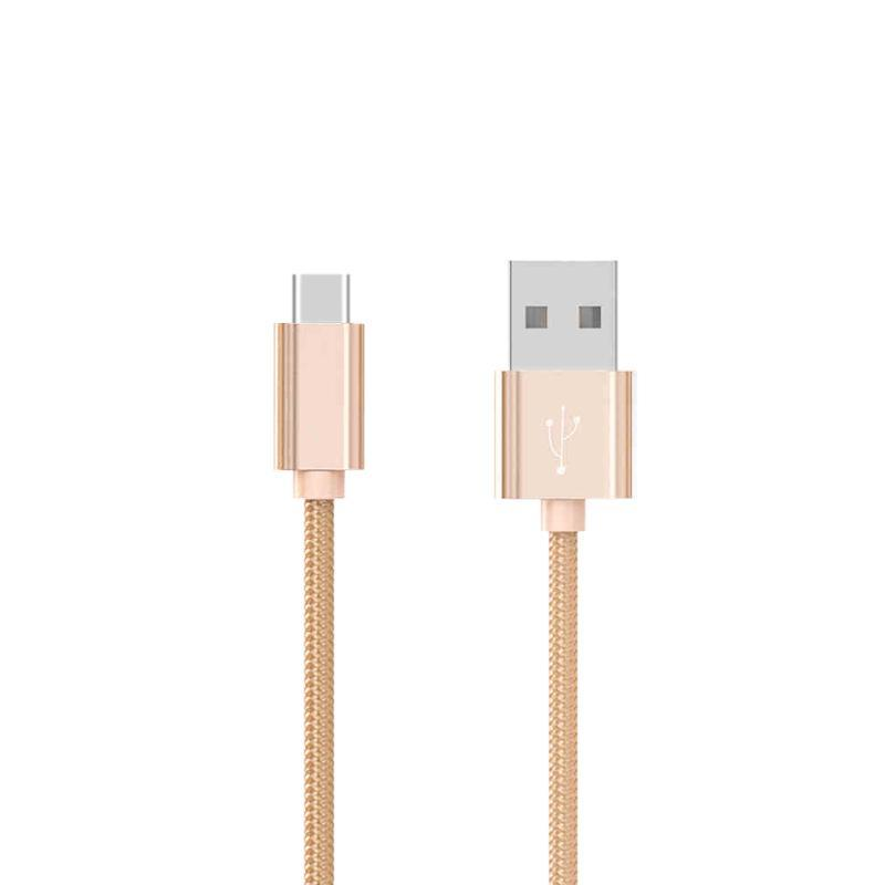 USB кабель Hoco X2 Knitted Type-C Gold 1m