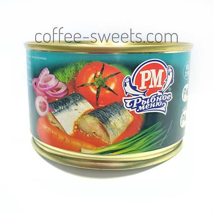 Сардина Рыбное Меню атлантическая в томатном соусе с овощами 230г, фото 2