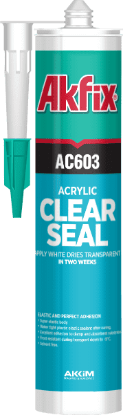 Акриловый герметик Akfix AC603 310 мл прозрачный