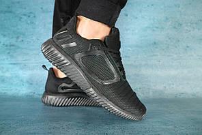 Кроссовки Classik 1124-2 (Adidas ClimaCool) (лето, мужские, текстиль, черный)