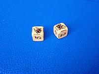 Кубики ручной работы из кости с цифрами
