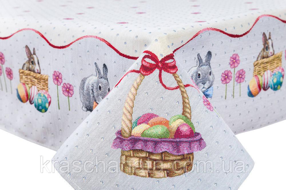 Скатерть пасхальная гобеленовая, 137х180 см, Эксклюзивные подарки, Столовый текстиль