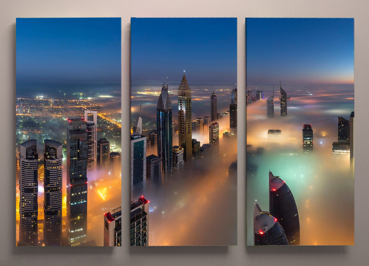 Картина модульная на холсте город 90х60