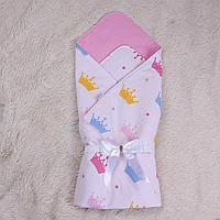 "Летний яркий конверт-одеяло ""Valleri"" (короны)"