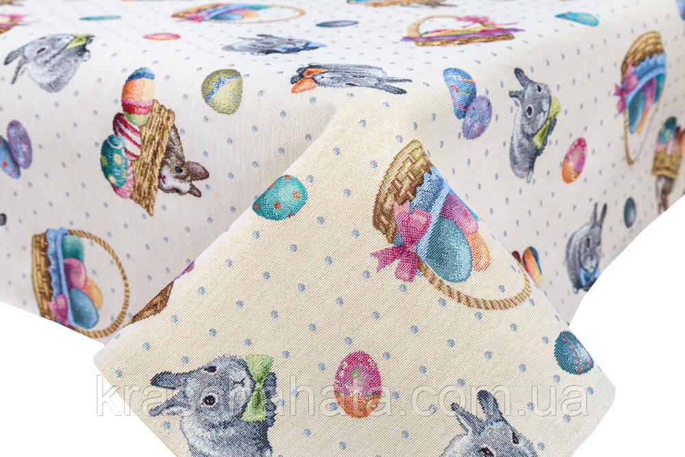 Скатерть гобеленовая, Кролик пасхальный, 97х100 см, Эксклюзивные подарки, Столовый текстиль