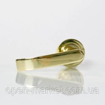 Ручка раздельная 3 (цвет золото) для межкомнатной двери, Николаев, фото 2