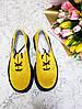 Женские туфли из натуральной замши желтого цвета на небольшой платформе DOKTOR POWDER SUEDE, фото 3