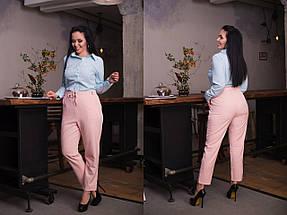 """Укороченные женские брюки """"ALEUT"""" с карманами (большие размеры), фото 3"""