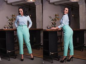 """Укороченные женские брюки """"ALEUT"""" с карманами (большие размеры), фото 2"""
