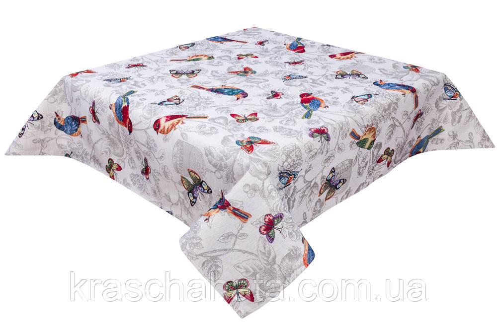 Скатерть гобеленовая, Колибри, 97х100 см, Эксклюзивные подарки, Столовый текстиль