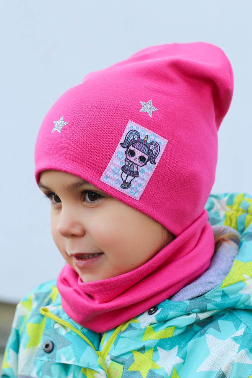 Комплект трикотаж шапка снуд для девочки Арктик LOL (р.52-55)