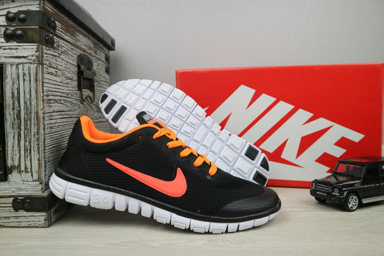 Кроссовки G 9385 -8 (Nike Free Run) (лето, мужские, текстиль, черный)