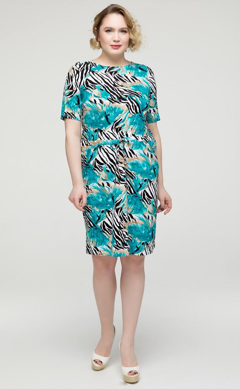 Платье женское больших размеров летнее трикотажное вискозное (батал)