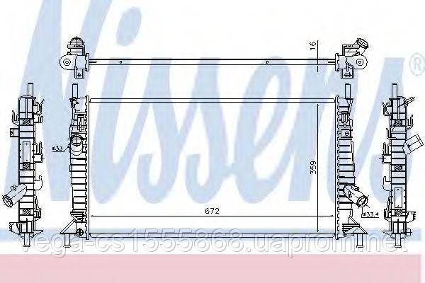 Радиатор охлаждения двигателя Nissens 62017A на Ford C-MAX / Форд C-MAX