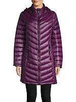 Женский фиолетовый легкий стеганый  пуховик популярного бренда Calvin Klein (пакуется в мешочек)