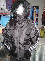 Куртка женская из плащевки на синтепоне капюшон с опушкой
