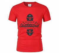 Футболка SKATEBOARD для мужчин красная