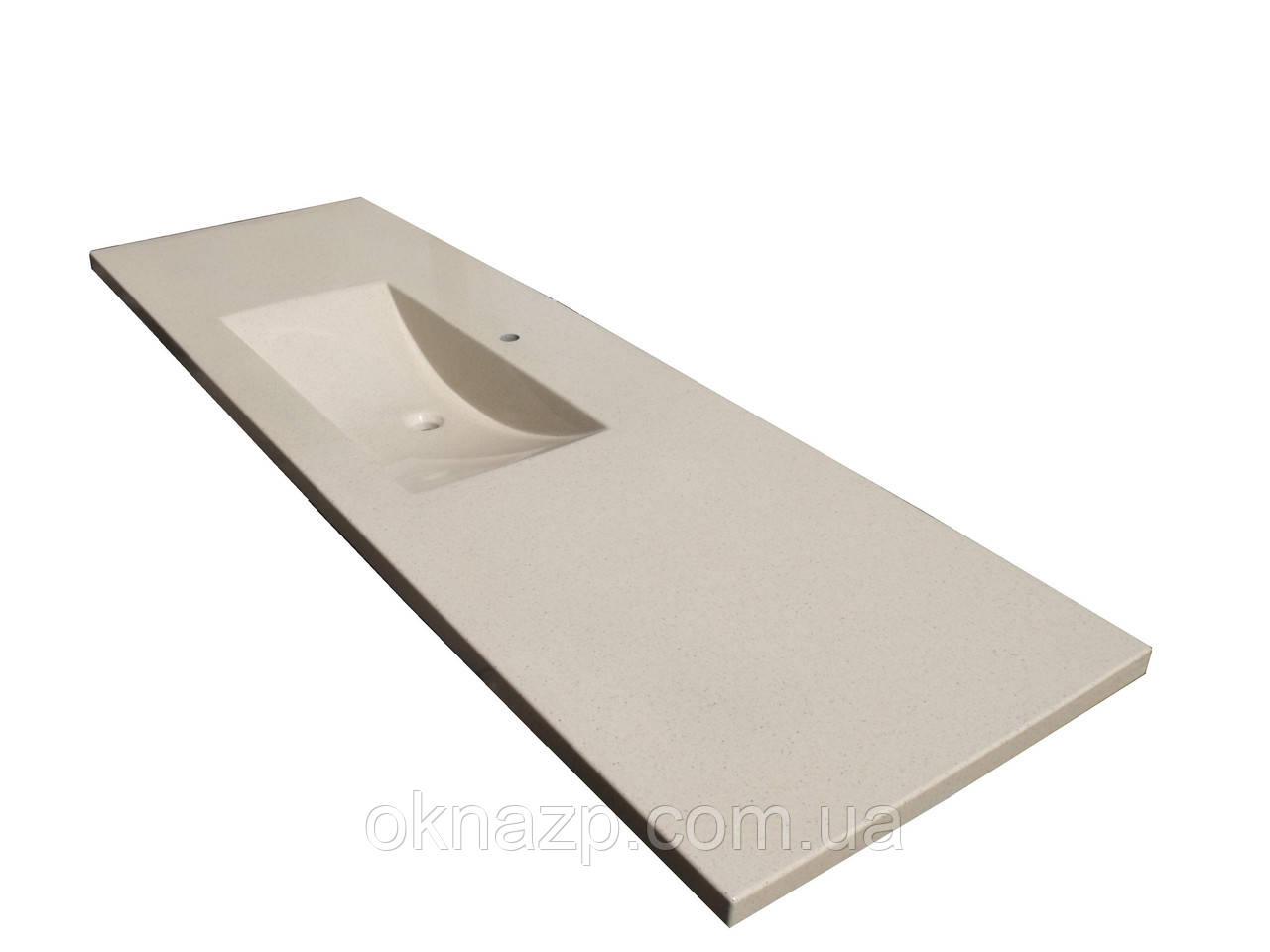 Умивальник зі стільницею з литого граніту (литий умивальник +2700грн./шт. додатково)