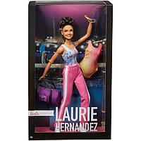 Коллекционня кукла Барби гимнастка Лори Эрнандес Barbie Laurie Hernandez Gymnast Made to Move FJH69